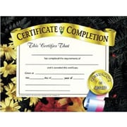 "Hayes® Certificate of Completion, 8 1/2"" x 11"", Grades 1st - 9th"