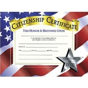 Hayes® White Border Citizenship Certificate, 8 1/2(L) x 11(W)