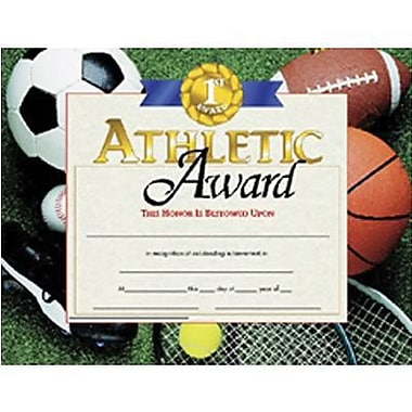 Hayes® Brown Border Athletic Award Certificate, 8 1/2
