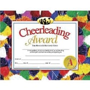 "Hayes® Cheerleading Award Certificate, 8 1/2""(L) x 11""(W)"