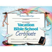 "Hayes® Vacation Bible School Certificate, 8 1/2""(L) x 11""(W)"