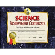 "Hayes® Science Achievement Certificate, 8 1/2""(L) x 11""(W), Inkjet Printer"