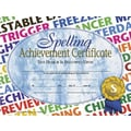 Hayes® Spelling Achievement Certificate, 8 1/2in.(L) x 11in.(W), 30/Pack, Blue