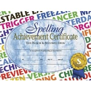 "Hayes® Spelling Achievement Certificate, 8 1/2""(L) x 11""(W), 30/Pack, Blue"