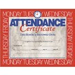 "Hayes® White Border Attendance Certificate, 8 1/2""(L) x 11""(W)"