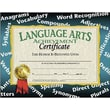 "Hayes® Yellow Border Language Arts Achievement Certificate, 8 1/2""(L) x 11""(W)"