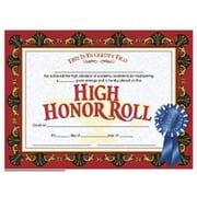 Hayes® Red Border High Honor Roll Certificate, 8 1/2(L) x 11(W)
