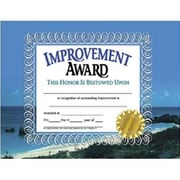 "Hayes® Improvement Award Certificate, Recognition, 8 1/2""(L) x 11""(W)"
