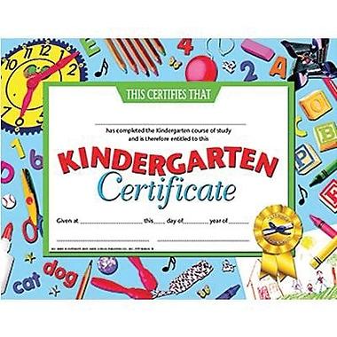 Hayes® Blue Border Kindergarten Certificate, 8 1/2in.(L) x 11in.(W)