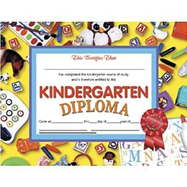 Hayes® Kindergarten Diploma Certificate With Red Ribbon, 8 1/2