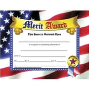 "Hayes® Blue Border Merit Award Certificate, 81/2"" x 11"", 30/Pack"
