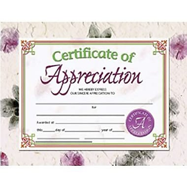 Hayes® Green and Brown Border Certificate of Appreciation, 8 1/2