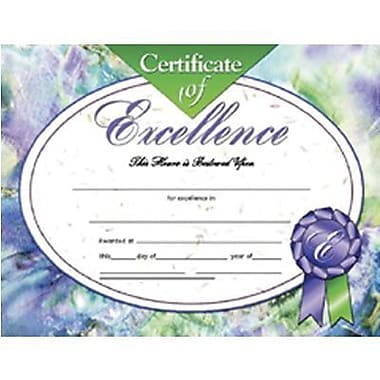 Hayes® Certificate of Excellence, 8 1/2in. x 11in., Grades Kindergarten  - 9th