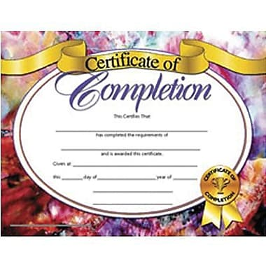 Hayes® Certificate of Completion, 8 1/2in. x 11in., Grades Kindergarten  - 9th