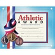 Hayes® Blue Border Athletic Award Certificate, 8 1/2in.(L) x 11in.(W)