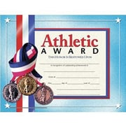 Hayes® Blue Border Athletic Award Certificate, 8 1/2(L) x 11(W)