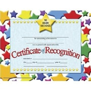 "Hayes® Blue Border Certificate of Recognition, 8 1/2""(L) x 11""(W), 30/Pack"