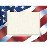 "Hayes® 8 1/2"" x 11"" Certificate, Stars ""N Stripes Border"