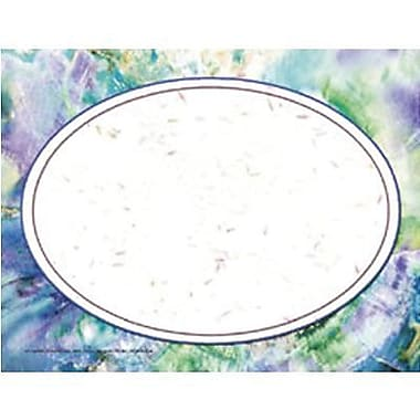 Hayes® 8 1/2in. x 11in. Certificate, Purple Marble/Oval Border