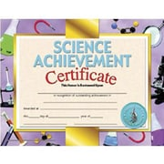 "Hayes® Science Achievement Certificate, 8 1/2""(L) x 11""(W)"