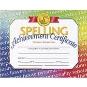 Hayes® Spelling Achievement Certificate, 8 1/2(L) x 11(W), 30/Pack, White