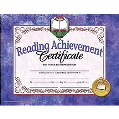 Hayes® Red Border Reading Achievement Certificate, 8 1/2