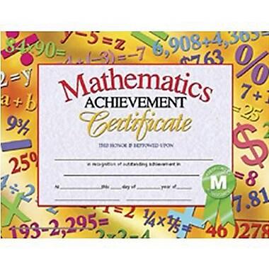 hayes174 math achievement certificate 8 12quotl x 11quotw