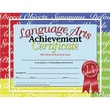 Hayes® White Border Language Arts Achievement Certificate, 8 1/2in.(L) x 11in.(W)