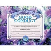 "Hayes® Blue Border Good Conduct Award Certificate, 8 1/2""(L) x 11""(W)"