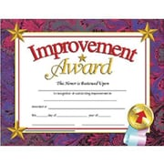 Hayes® Improvement Award Certificate, 8 1/2(L) x 11(W)