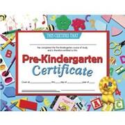 Hayes® Blue Border pre-kindergarten Certificate, 8 1/2(L) x 11(W)