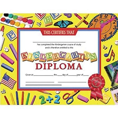 Hayes® Kindergarten Diploma Certificate With Award Seal, 8 1/2in.(L) x 11in.(W)