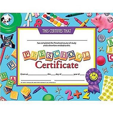 Hayes® pre-school Certificate, 8 1/2