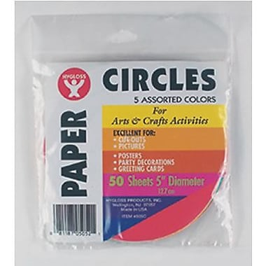Hygloss® 5in.(Dia) Paper Circles