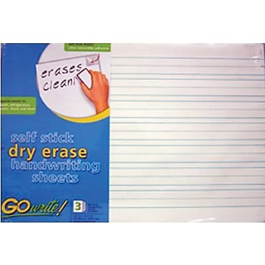 Pacon® GoWrite!® Dry Erase Handwriting Sheets, 22in.(W) x 16 1/2in.(L)