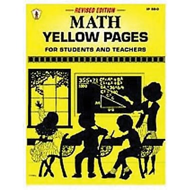 Incentive Publication Math Yellow Pages Book, Grades 2nd - 8th