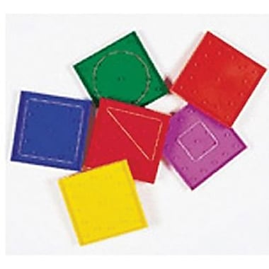 Learning Resources® Double-Sided Rainbow Geoboard