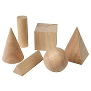 Learning Resources® Wood Basic Geometric Solids, 6/Set