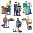 Little Folk Visuals® Flannel Board Set, Community Helpers