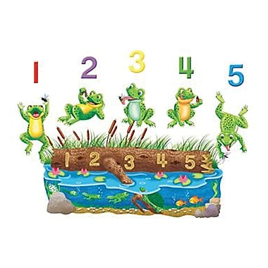 Little Folk Visuals® Flannel Board Set, 5 Speckled Frogs Bilingual