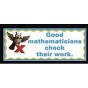 McDonald Publishing® Chalkboard Topper, What Good Mathematicians Do