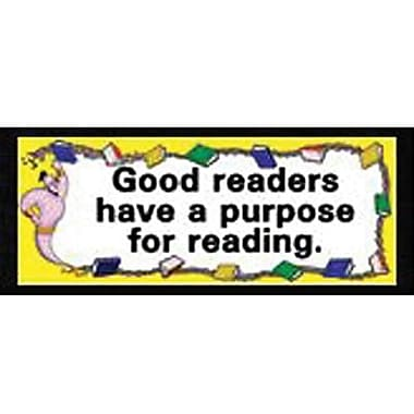 McDonald Publishing® Chalkboard Topper, What Good Readers Do