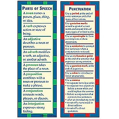 McDonald Publishing® Parts of Speech and Punctuation Smart Bookmark