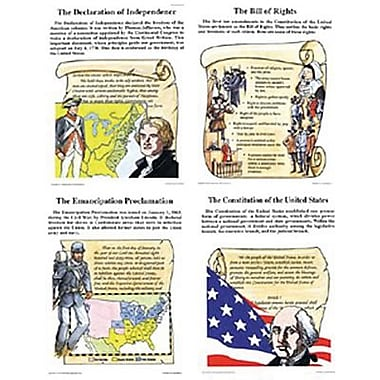 McDonald Publishing® Poster Set, Historic U.S. Documents