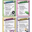 McDonald Publishing® Poster Set, 4 Types of Writing Teaching