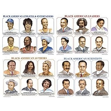 McDonald Publishing® Poster Set, Famous Black Americans