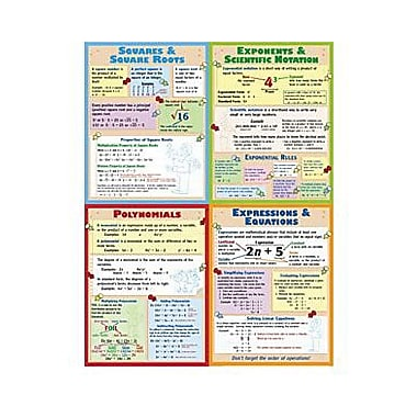 McDonald Publishing® Poster Set, Algebra Teaching