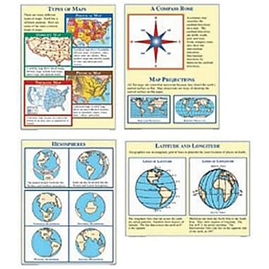 McDonald Publishing® Poster Set, Map Skills