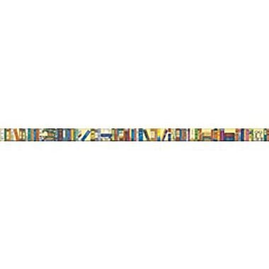McDonald Publishing® 4th-12th Grades Straight Bulletin Board Border, Bookshelf of Classics Brainy