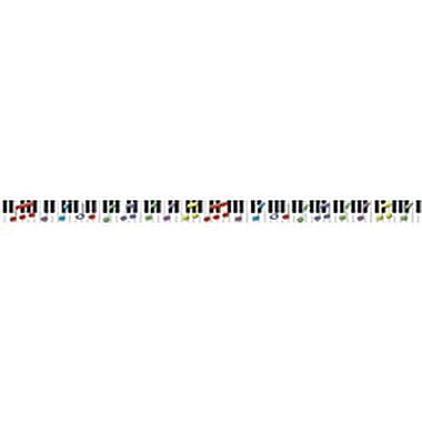 McDonald Publishing® Kindergarten - 9th Grades Straight Bulletin Board Border, Keys To Music Brainy